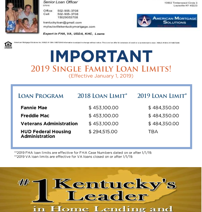 Va Loan Limits For All Kentucky Counties In 2019 Va Loan Kentucky Loan