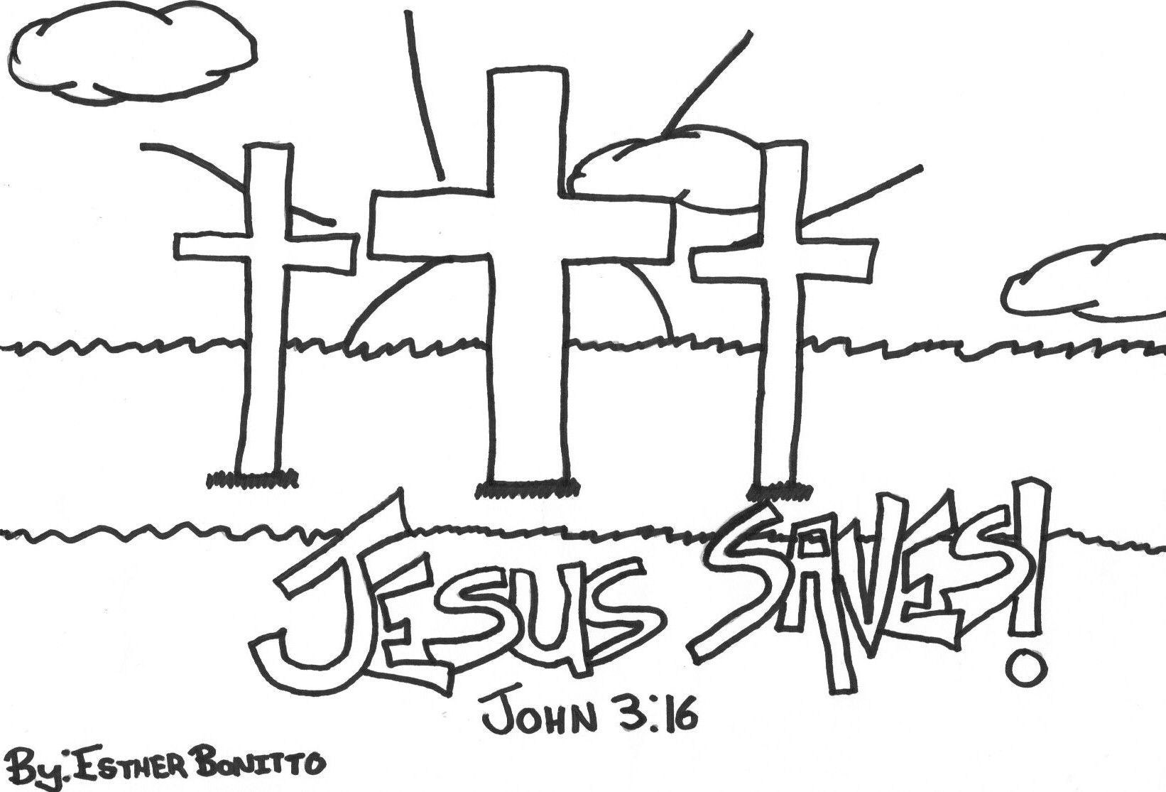 Salvation Bible Coloring Pages