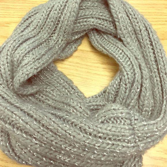 Grey and silver Infiniti scarf Very pretty grey and silver Infiniti scarf ❤️❄️ super warm Accessories Scarves & Wraps