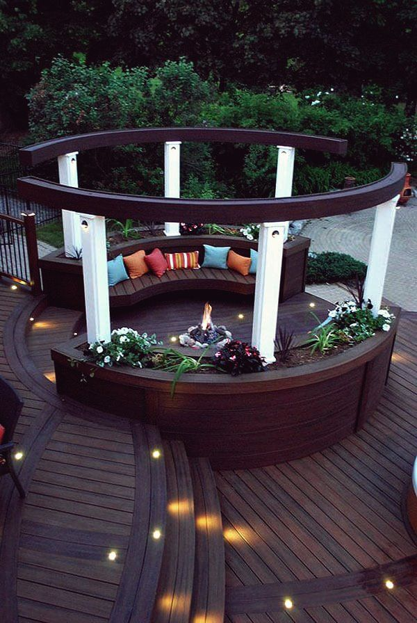 Photo of 28 Round Firepit Area Ideas for summer nights outdoors