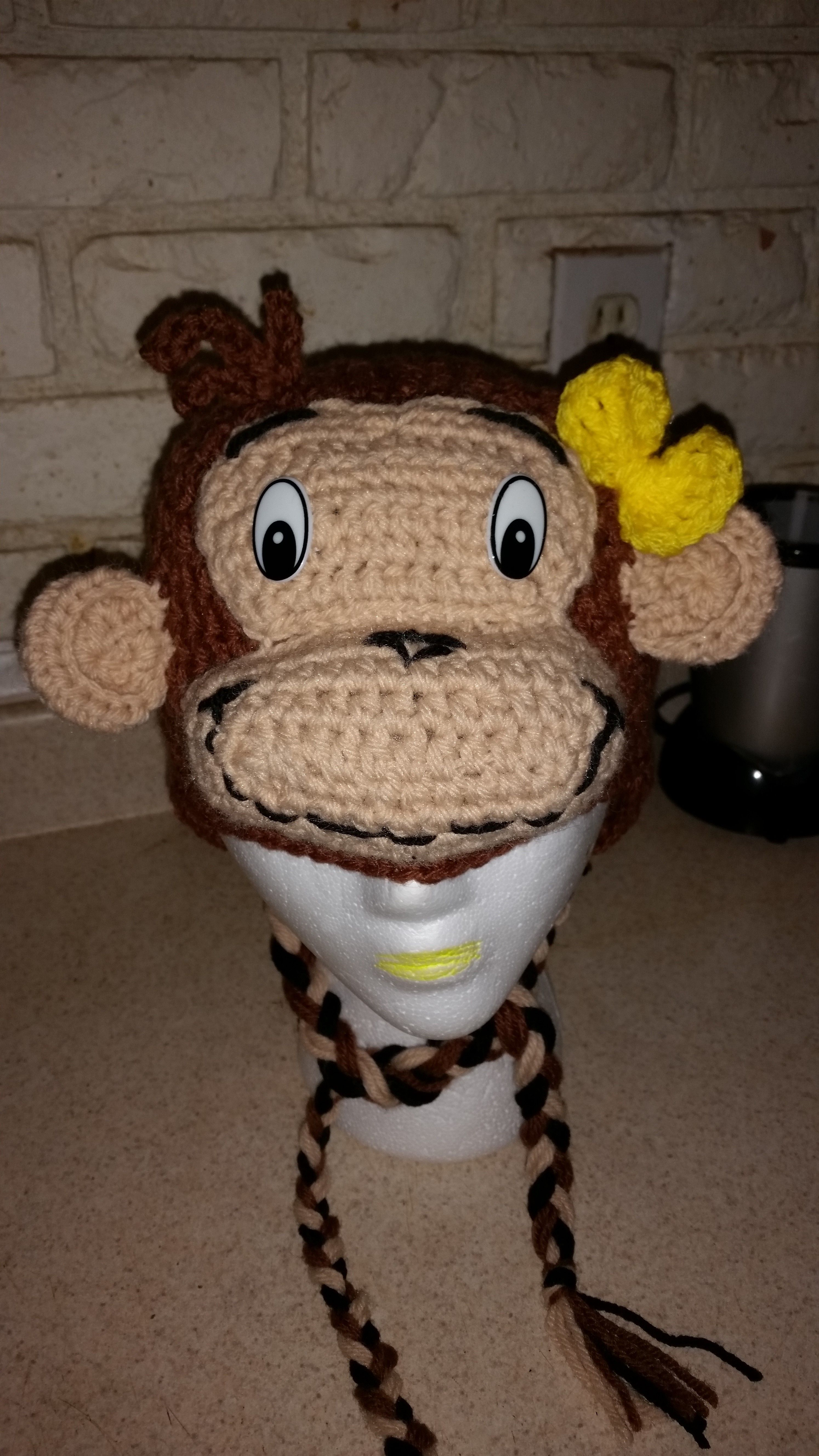 crochet girl curious george hat | things i made | Pinterest