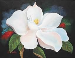 How To Paint Magnolias In Acrylics Google Search Flower Painting Flower Art Painting