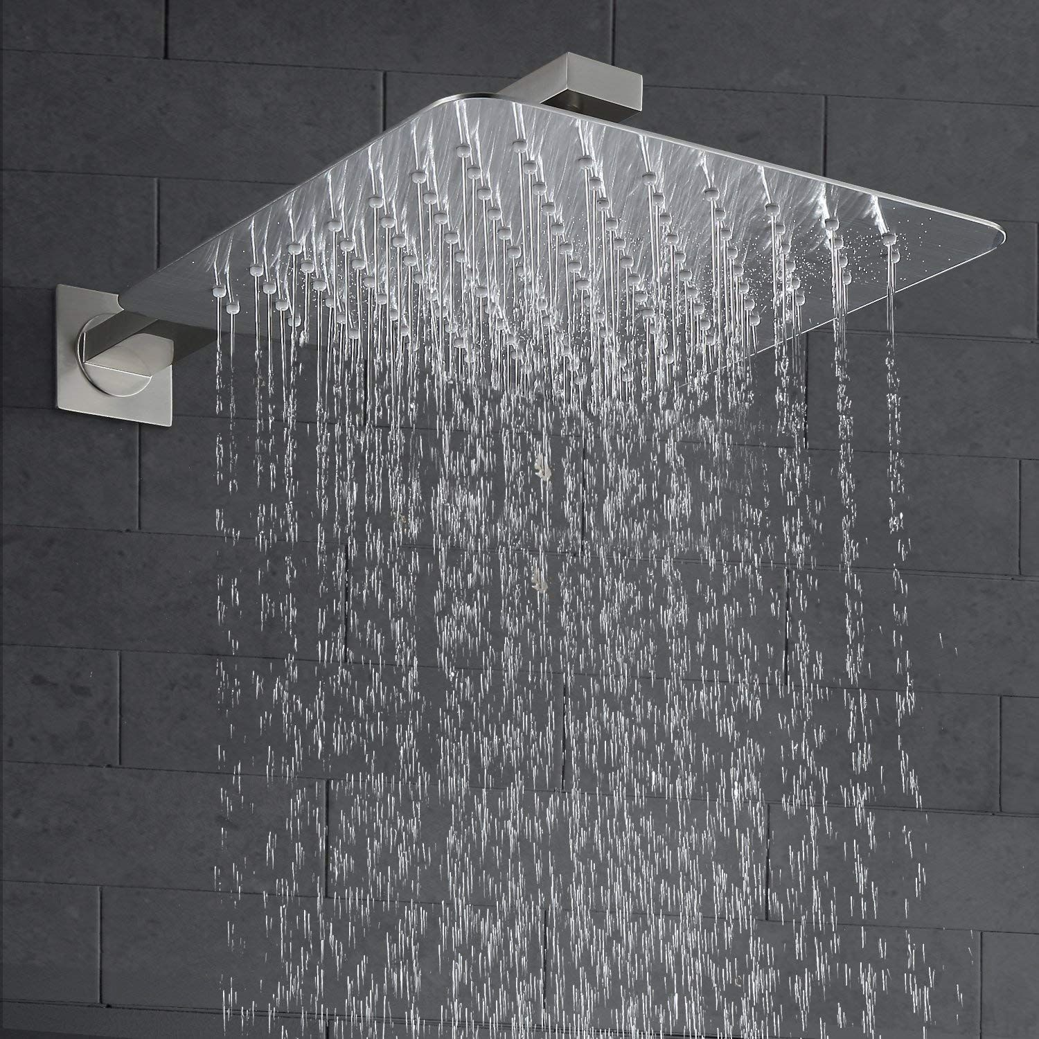 Esnbia Shower System Brushed Nickel Shower Faucet Set With Valve