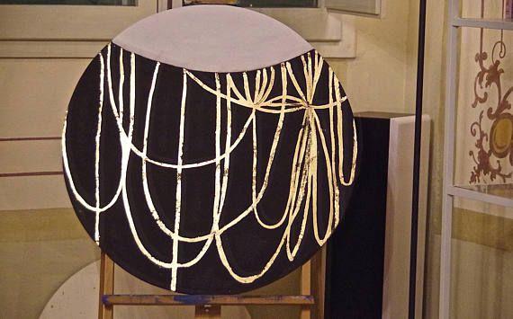 My Golden Age  Cerchio 80cm acrilico e foglia d'oro