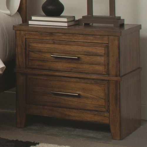 Coaster Cupertino Two Drawer Night Stand w Cord Access Coaster