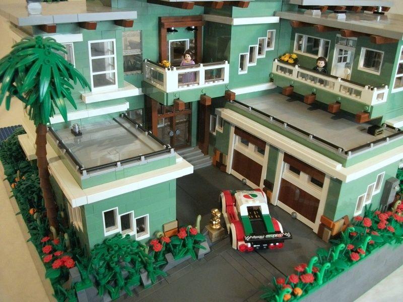 Beach House A Lego Creation By Boise Bro Mocpages Com Lego Beach Lego House Lego Creations