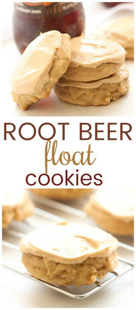 Root Beer Float Cookies #cookies