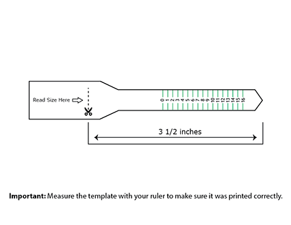 graphic relating to Printable Ring Size Chart known as This printable ring sizer can be utilized toward thoroughly come to a decision