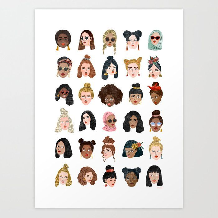 Girls Girls Girls Art Print by Bodil Jane - X-Smal