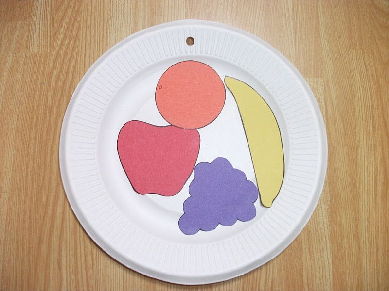 Preschool crafts for kids fruit paper plate craft for Food crafts for preschoolers