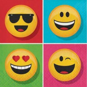 Emoji lunch Napkinsone stop kids party shop