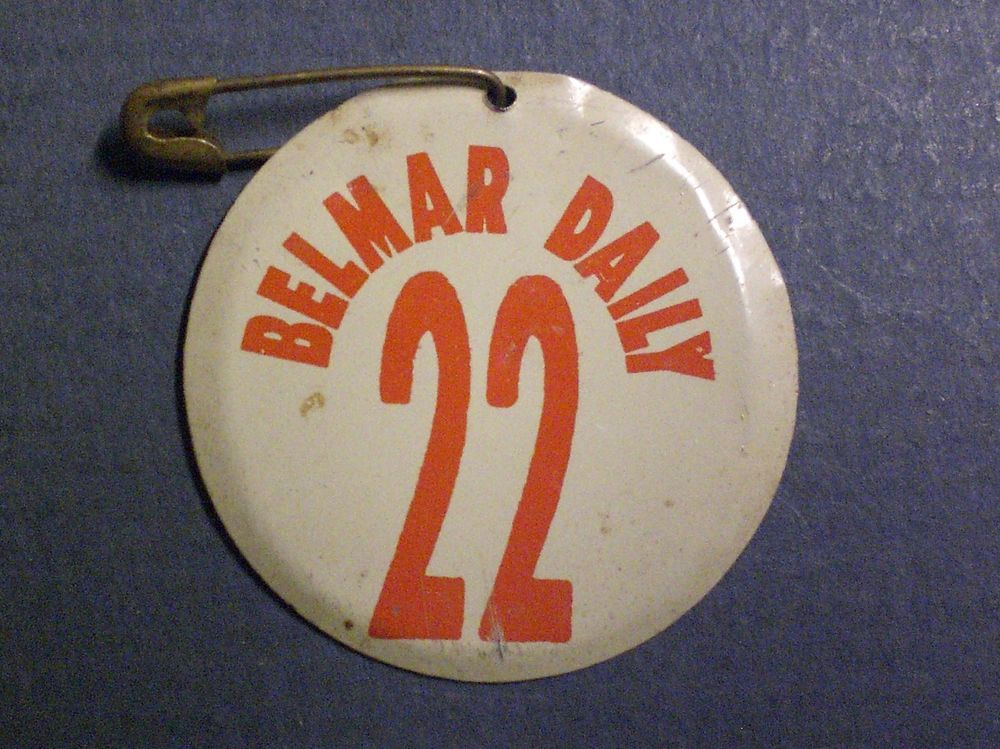 Vintage Belmar New Jersey Daily Beach Tag From 2 0 Belmar Nj Shore New Jersey
