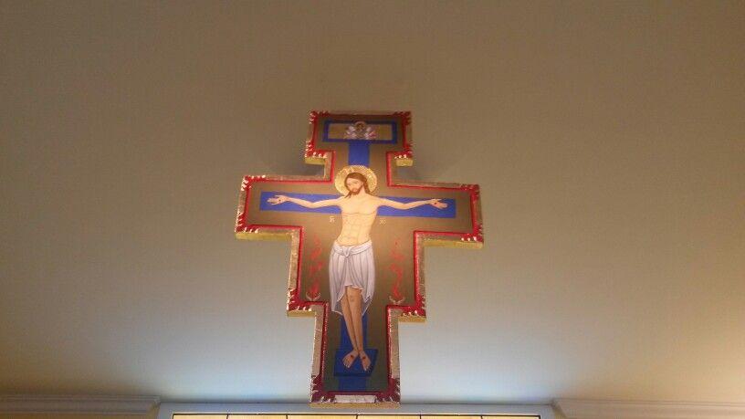 Crocefisso cappella Madonna dei Lumi dipinto da claudia Rapetti