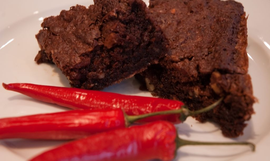 Chocolate and Chilli Brownies