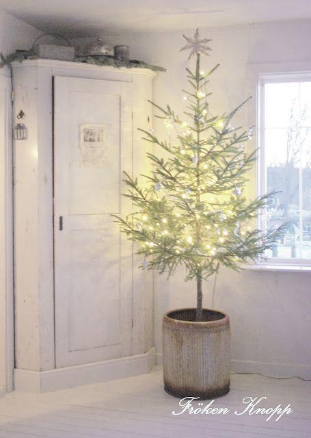 With Hook And Needle Holiday Christmas Tree Shabby Christmas Nordic Christmas
