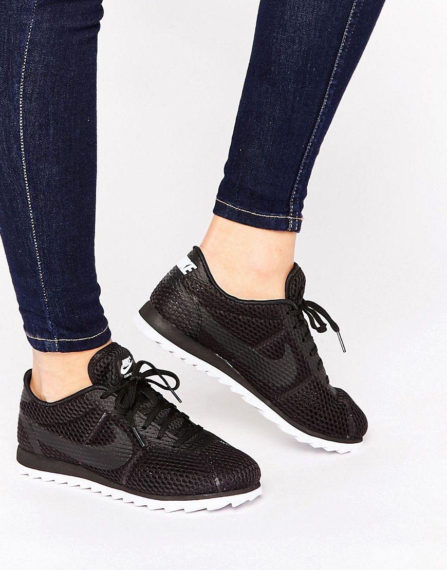 53ae295da762 Image 1 of Nike Black Cortez Ultra Breathe Trainers