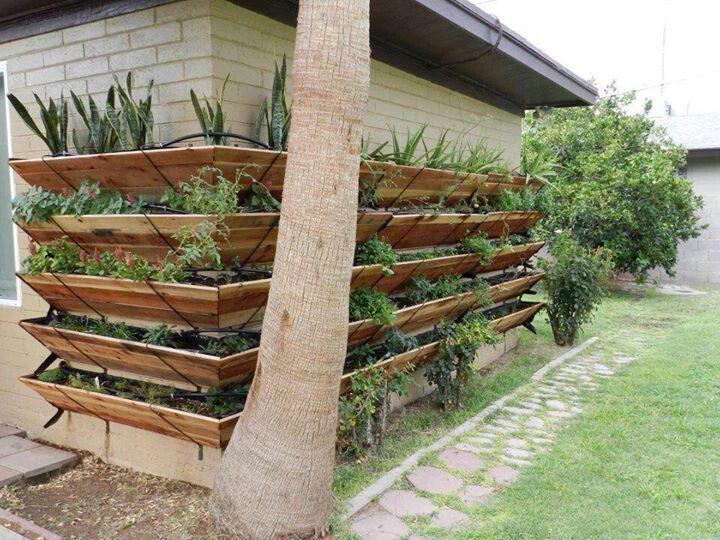 Outdoor Mounted Gardening Shelves