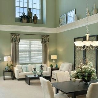 Just Love Ledge Decor High Ceiling Living Room Home