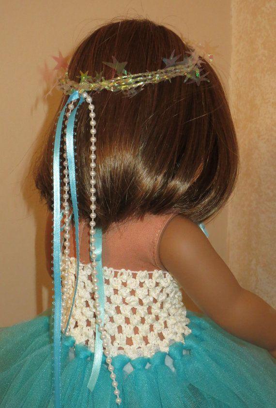 Aqua Blue and Ivory Dream Dress Tutu for 18 by JanieCarrollDesigns