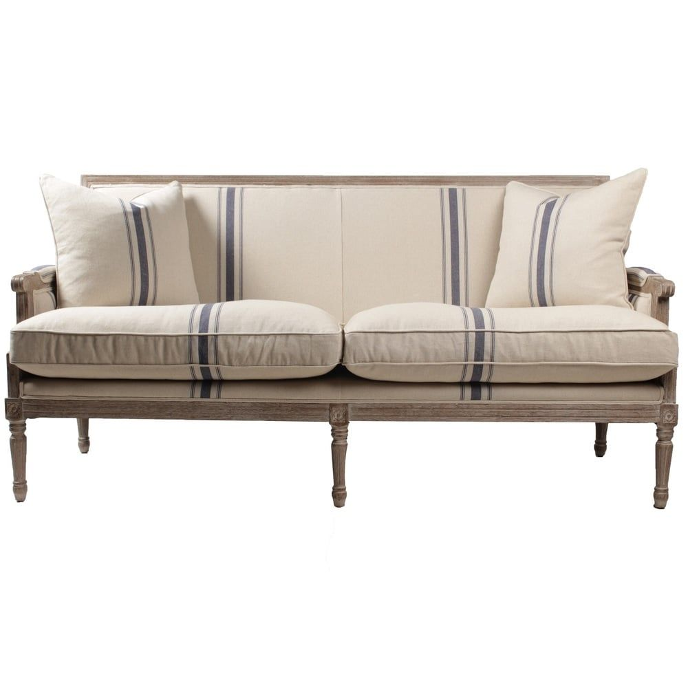 Navy Stripe Lafontaine Sofa Overstock Com Shopping The Best Deals On Sofas Couches Furniture Sofa Colors Home