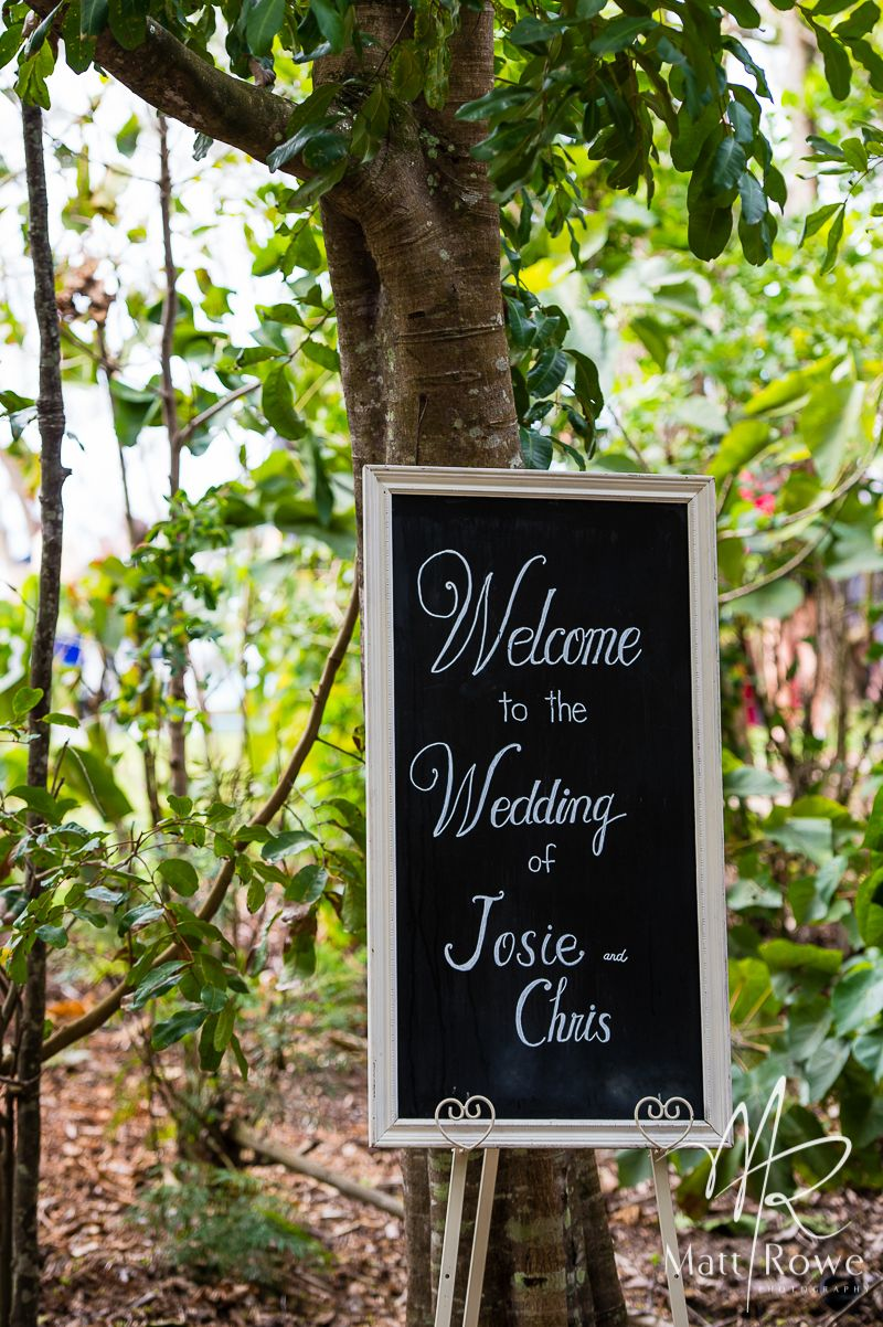 Wedding Ceremony Signage White Framed Blackboard With Welcome