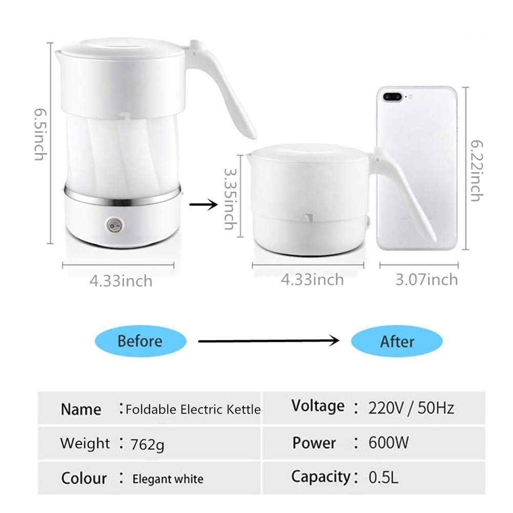 Foldable Electric Kettle Dual Voltage