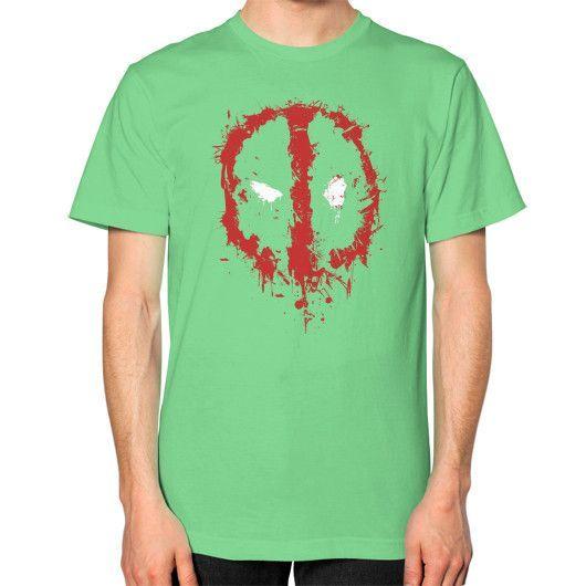 Deadpool Splatter Unisex T-Shirt (on man)