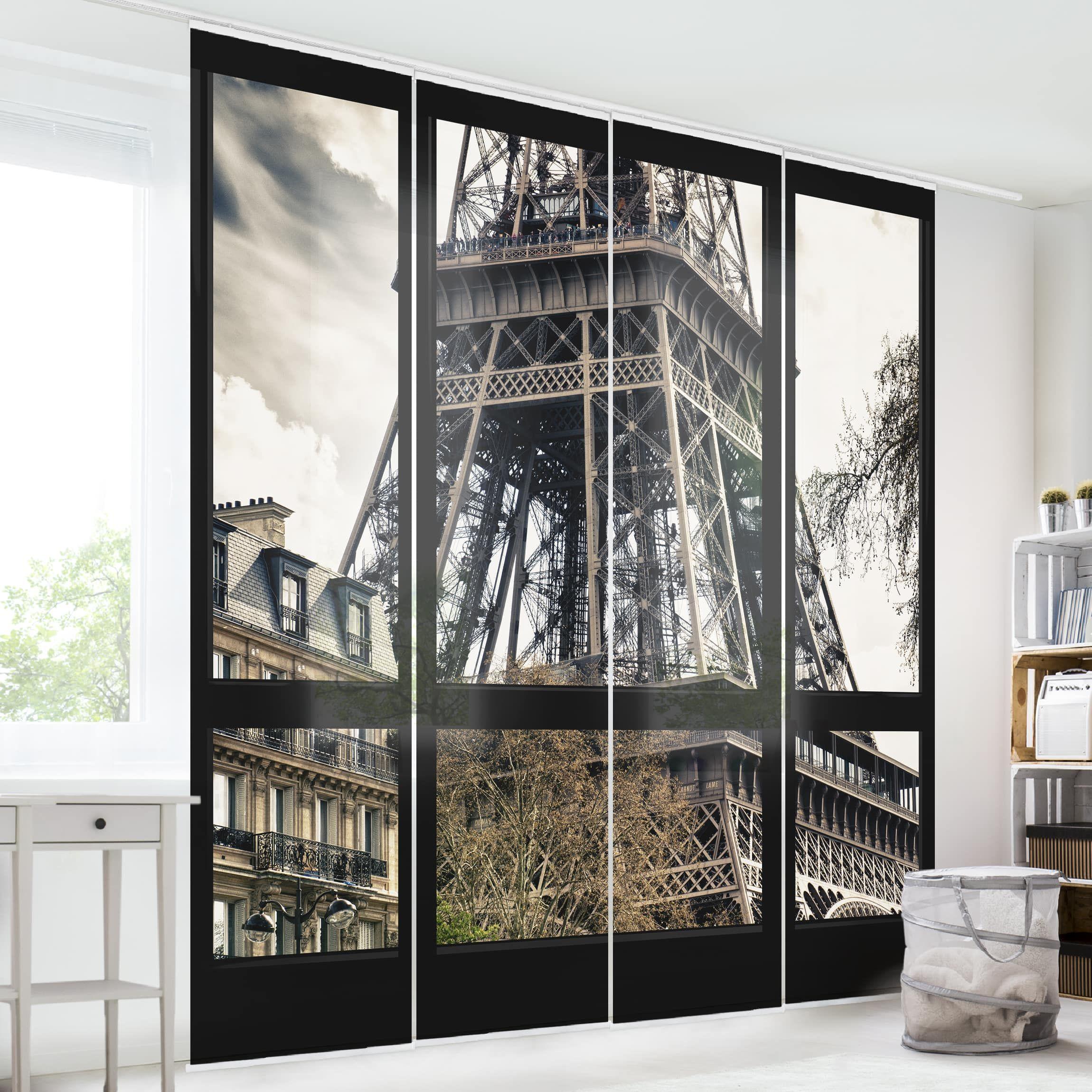 Tende Divisorie Cucina Soggiorno.Tende Scorrevoli Set Window View Paris Close To The