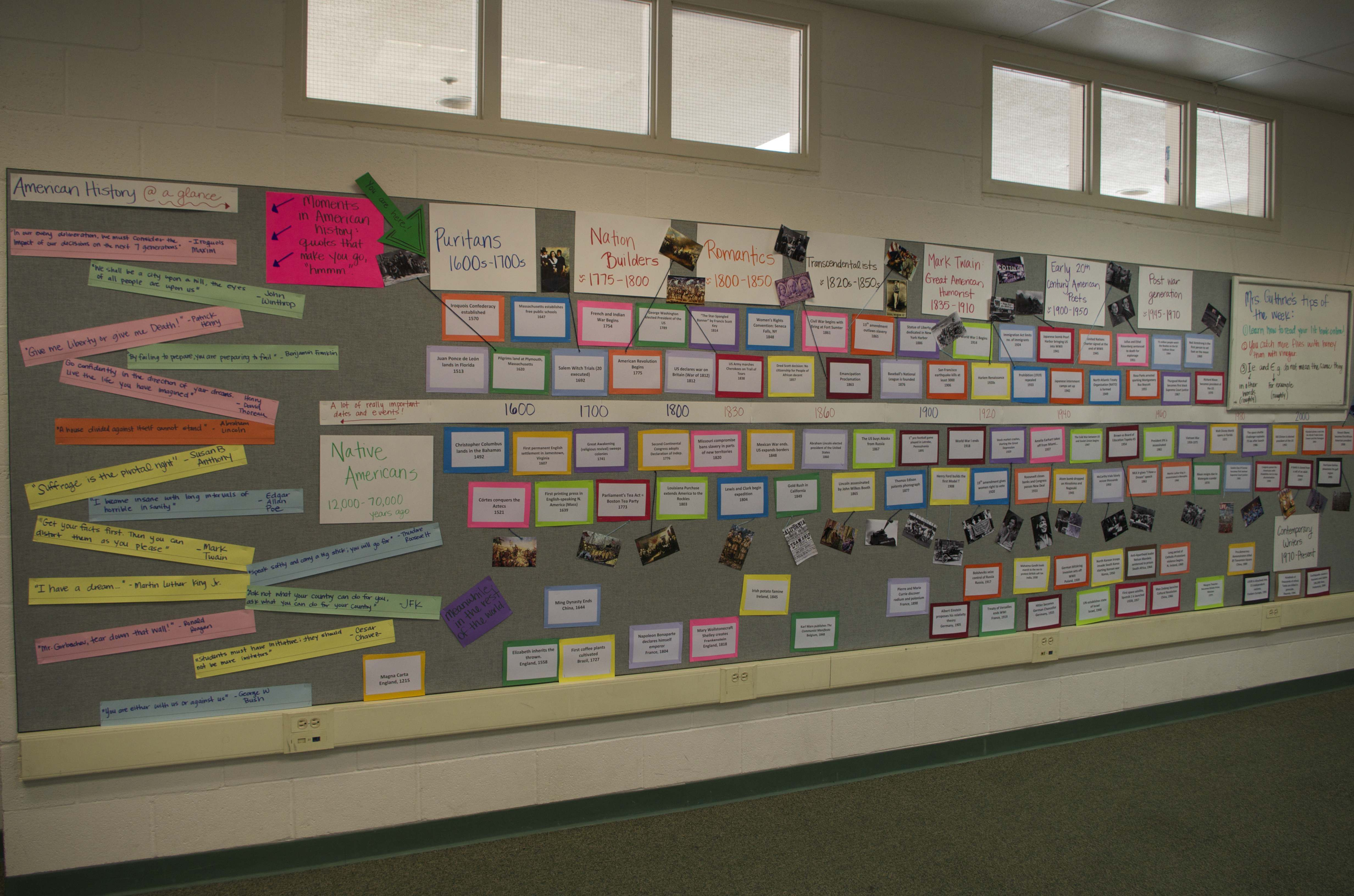 Classroom Timeline Ideas ~ Imgp timeline wall to reference with current piece of