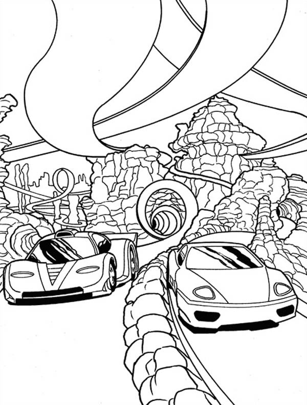 Hot Wheels Super Race Coloring Page NetArt in 2020 (With