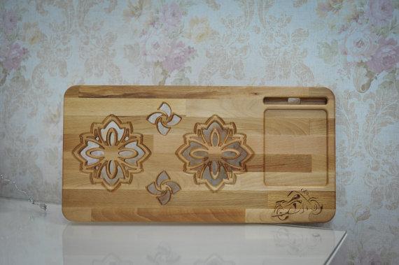Personalized Engraved Lap desk Laptop table by CarveWoodShop