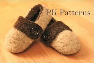 Felted slippers for kids and toddlers and some super cute ones on the web for guys and gals.  I think the boys need some new house shoes!