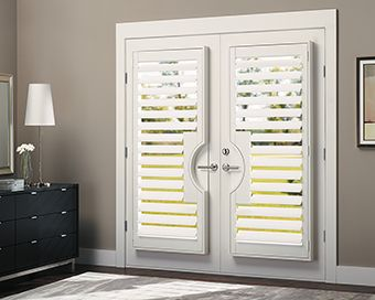 Even Place Shutters Over Your French Doors For A Sleek