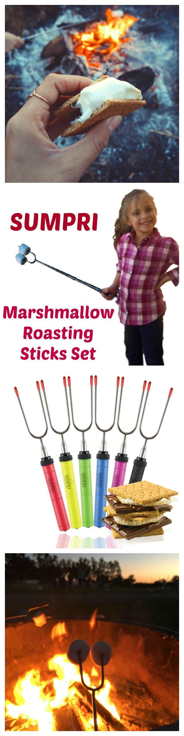 SUMPRI Barbeqa Marshmallow Roasting Sticks Telescoping Marshmallow Jungle Stix Extra Long 34 Set of 6 Campfire Forks Cooking Skewers for Smores, Hotdogs, Camping Cookware, Backpacking Gear, Bbq Grill, Fireplace Tools, Fire Pit Accessories This set of 6 forks is made by #sumpri #marshmallow #sticks #marshmallowroastingsticks #smoressticks #campfiresticks #smores #marshmallowsticks SUMPRI Barbeqa Marshmallow Roasting Sticks Telescoping Marshmallow Jungle Stix Extra Long 34 Set of 6 Campfire Forks #smoressticks