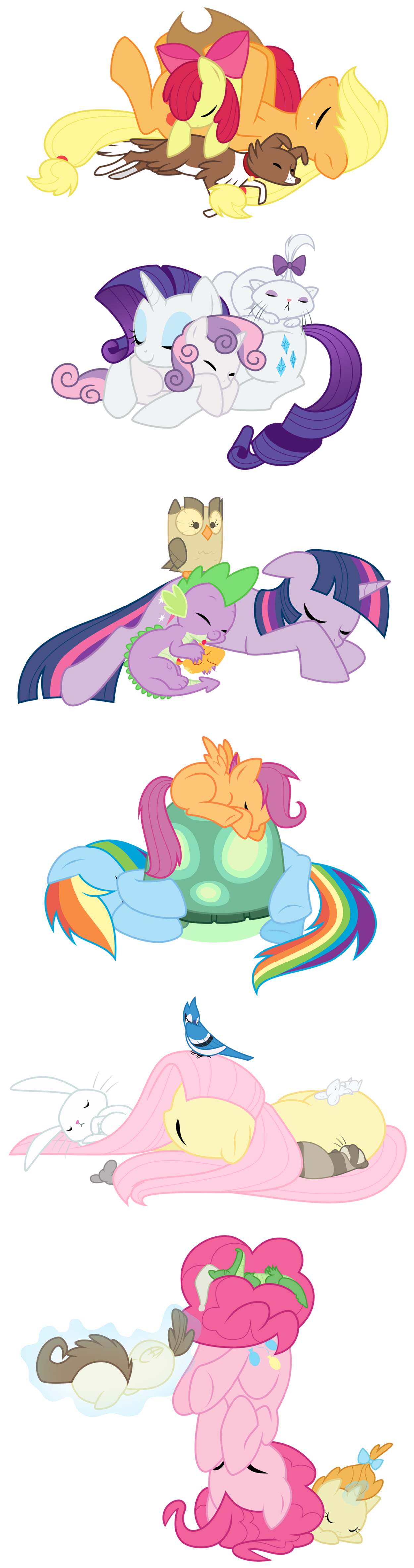 f314485dd763651862696ec429989572 my little pony and friends all cuddled up! this pinterest board  at bayanpartner.co
