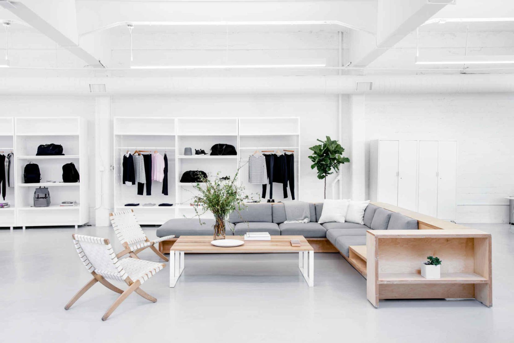 Het nieuwe kantoor van everlane is nóg perfecter house idee