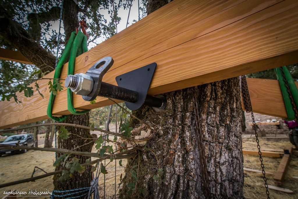 Treehouse hardware series tree attachment bolt tab for How to build a treehouse step by step