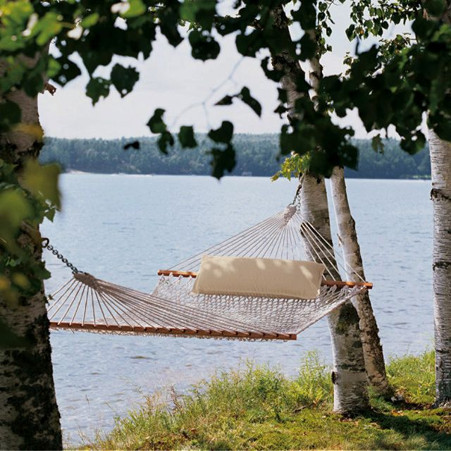 cotton hammock  hammocks at l bean need to replace broken hammock llbean hammock  very new england  love it    treasures   pinterest      rh   pinterest