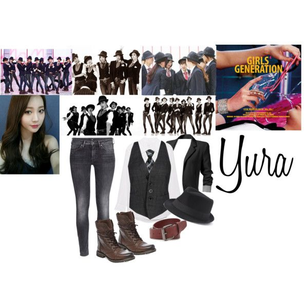 SNSD - Mr.Mr. by yurasnsd on Polyvore featuring polyvore fashion style Dsquared2 Equipment H&M Steve Madden Urban Pipeline Forever 21