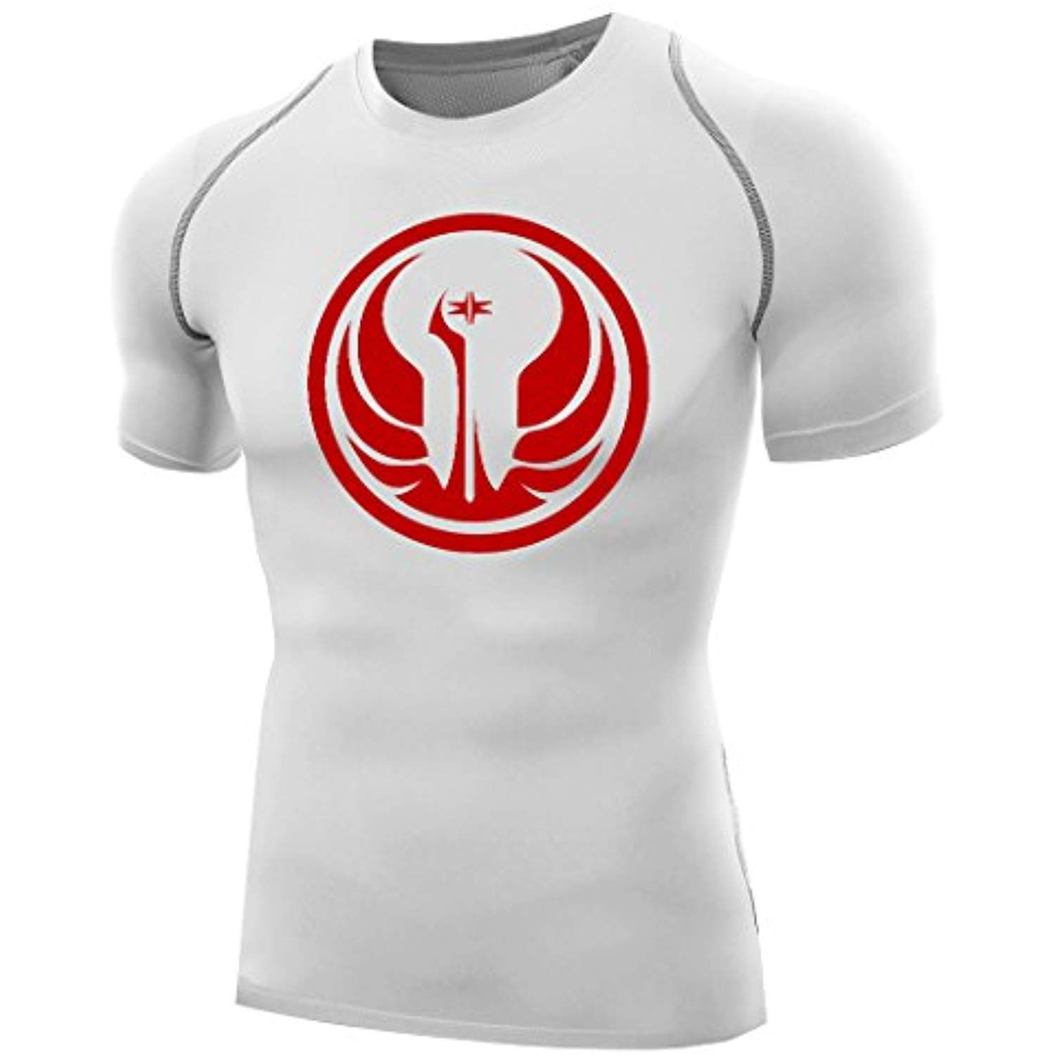 Official Star Wars Mens Baselayer Compression Top Short Sleeve Clothing Active