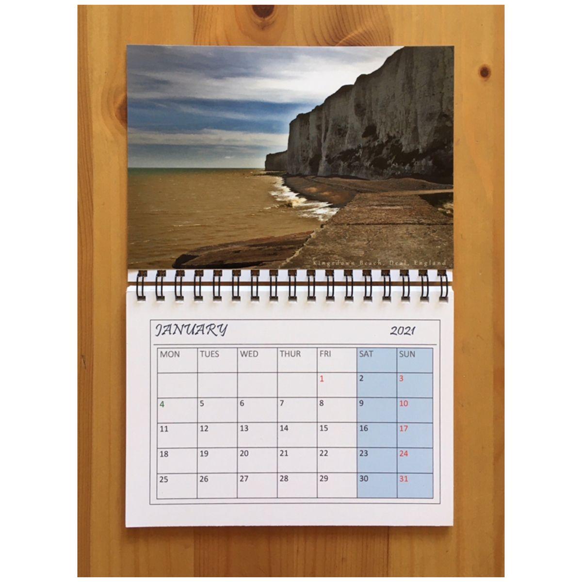 Fridge Calendar 2021 Seascape Magnetic Calendar 2021 A6 Etsy Printed Magnets Magnetic Calendar Vertical Calendar