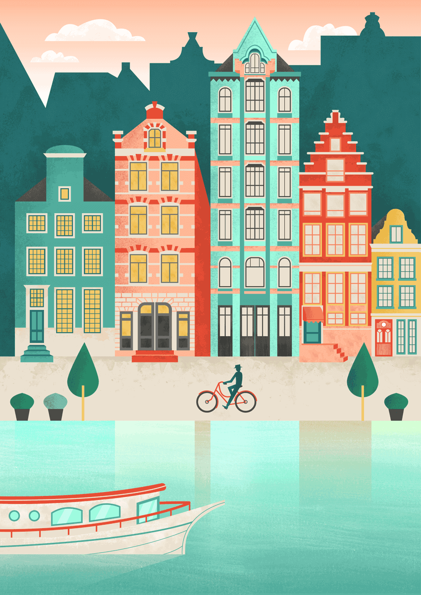 How To Create An Amsterdam Cityscape In Adobe Illustrator Andphotoshop  Design Psdtuts