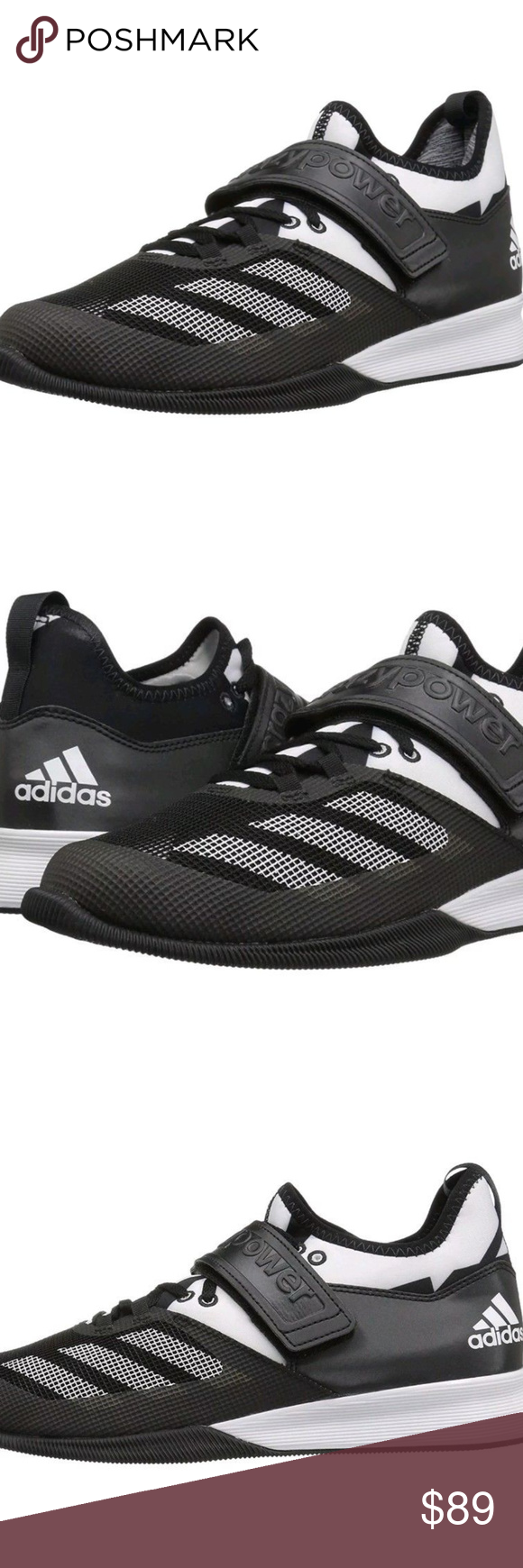 Adidas performance folle potere di sollevamento pesi nwt di sollevamento pesi