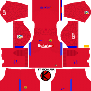 Barcelona Dream League Soccer Kits 2019 2020 Terbaru Soccer Kits Soccer Goalkeeper Kits