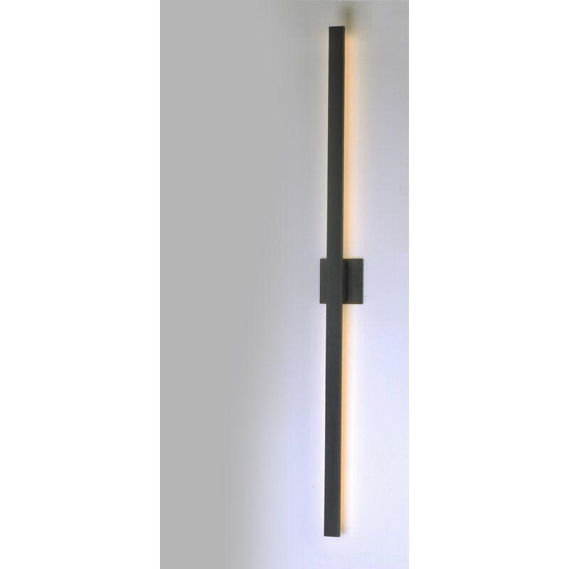 Castanon 2 Light Led Outdoor Armed Sconce In 2020 Led Lights Interior Lighting Sconces