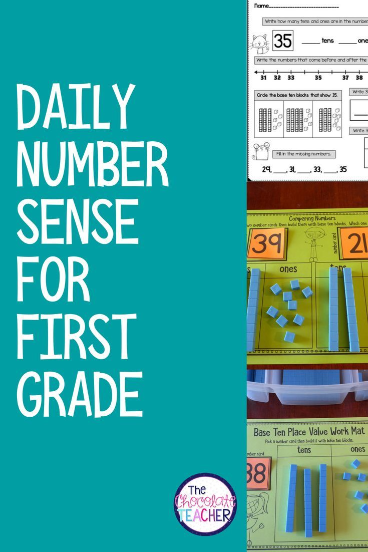 Number Sense Daily Math for First Grade Month Numbers 20-50 | 100 ...