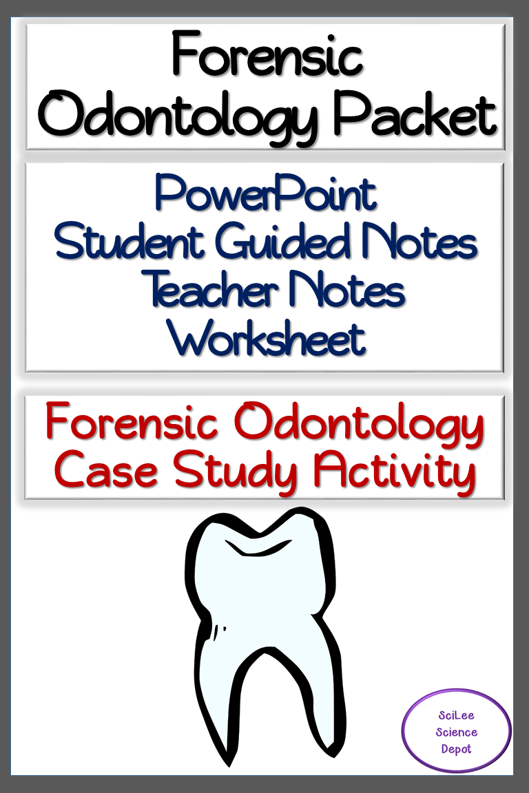 Forensics Odontology Packet Powerpoint Guided Notes Worksheet Activity Guided Notes Forensics Teaching Curriculum