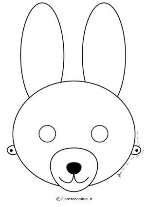 Maschere Da Coniglio Per Bambini Da Stampare Maschere Bambini