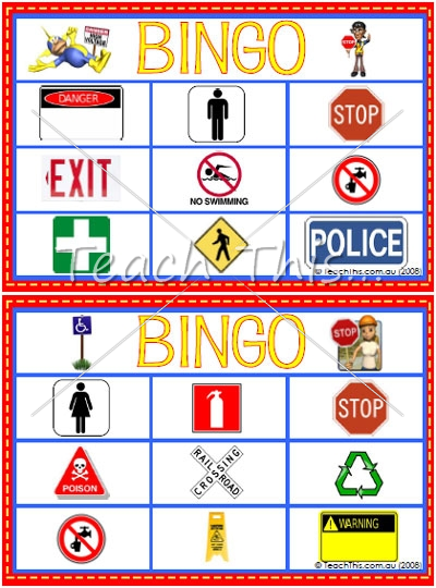 Community Signs bingo Community signs, January classroom