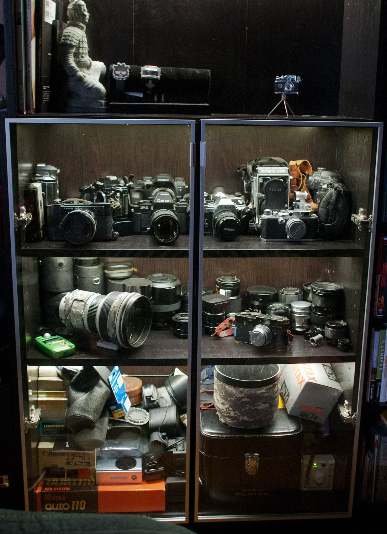 Dust Free Display Case For Camera Equipment From An Ikea